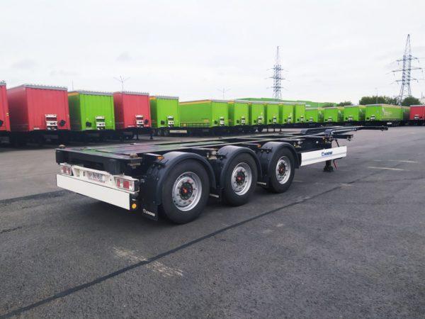 Полуприцеп контейнеровоз Krone Box Liner SDC 27 eLTU4 2018 года выпуска, SAF-integral, дисковые тормоза