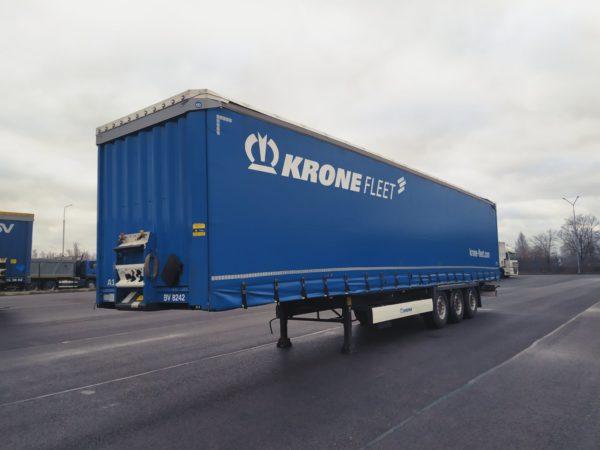 Полуприцеп шторный krone 2017 года, оси krone axle trailer, дисковые тормоза, подготовка под коники