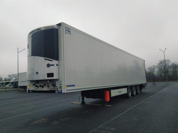 полуприцеп рефрижератор krone 2017, оси krone axle trailer, дисковые тормоза, TK SLX-300i