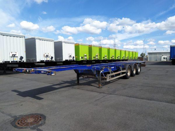 Полуприцеп контейнеровоз Grunwald 2013 года, bpw eco plus, барабанные тормоза