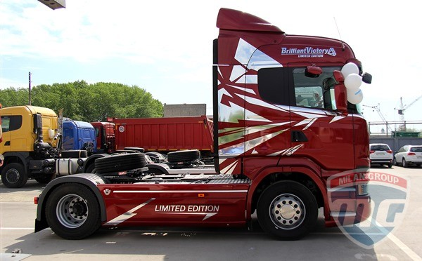 Российская компания приобрела эксклюзивный грузовик Scania