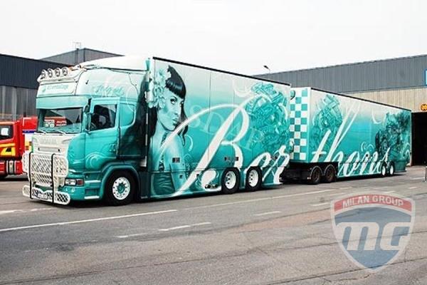 Бирюзовая Scania признана самым красивым грузовиком Европы