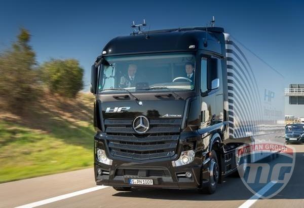 В Германии испытали беспилотный Mercedes-Benz Actros