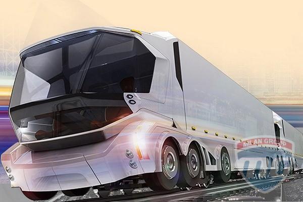 Китайцы представили необычный концепт грузовика будущего