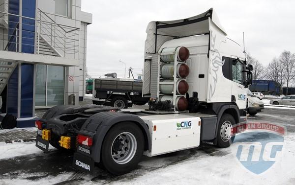 Scania продала в России первый газовый тягач