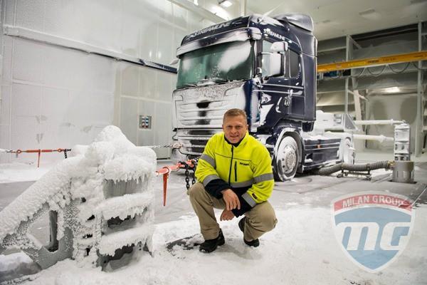 О новом испытательном полигоне Scania...
