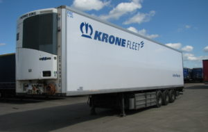 рефрижератор мясник Krone 2010, bpw eco plus, барабанные тормоза, tk slx-400